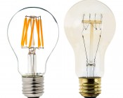 LED Vintage Light Bulb - A19 LED Globe Bulb w/ Filament LED - 6W: Comparison