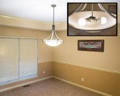 A19 LED Globe Bulb - 85 Watt Equivalent - 840 Lumens: Installed in Ceiling Hanging Light Fixture in Dining Room