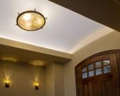 A19 Globe LED Bulb - 12 Watt: Show Installed In Overhead Fixture In Entryway.