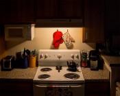 A19 LED Bulb - 65 Watt Equivalent Globe Bulb - 625 Lumens: Warm White Bulb Illuminating Kitchen Stove