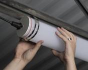 50W Aimable LED Vapor Proof Light Fixture - Linkable Cylindrical LED Tri-Proof Light - 4' Long - 6,400 Lumens: Adjusting light Direction