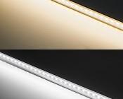 ALB series Aluminum LED Light Bar Fixture - Flush Mount: Warm White vs Cool White