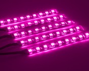 Universal - Color Changing Weatherproof RGB LED Glow Strip Accent Lighting Kit: Showing Strips On In Various Color Modes.