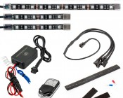 Universal LED Lighting Kit - Weatherproof Multi-Strip Remote Activated RGB Color Changing Kit: ALKW4-RGB36