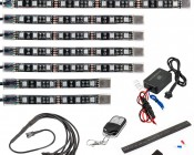 Universal LED Lighting Kit - Weatherproof Multi-Strip Remote Activated RGB Color Changing Kit: ALKW8-RGB72