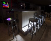 Molding Style Recessed Aluminum Profile Housing for LED Strip Lights: Shown Installed On Bar Footing.