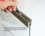 Aluminum LED Channel for 6mm Glass - KLUS EX-ALU Series: Usage Instructions. See PDF for more.