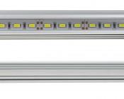 Aluminum LED Light Bar Fixture - Corner Mount: Close Up View
