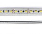 Aluminum LED Light Bar Fixture - Flush Mount: Close Up View