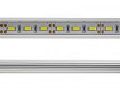 Aluminum LED Light Bar Fixture - O Shape: Close Up View