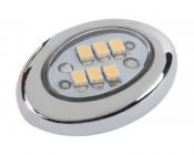 AM series Miniature Oval Accent Light - Chrome