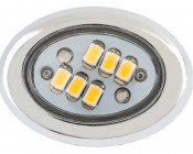 AM series Miniature Oval Accent Light - Chrome: Front View.