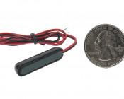AM series Miniature Rectangle Accent Light - Black: Back View.