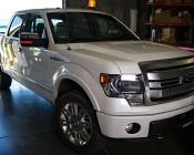 """SAE Class 1 LED Strobe Beacon - 6-1/4"""" Amber LED Multi Mode Strobe Light Beacon: Installed On Full Sized Truck."""