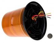 """SAE Class 1 LED Strobe Beacon - 6-1/4"""" Amber LED Multi Mode Strobe Light Beacon: Back View"""