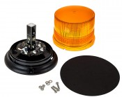 "SAE Class 1 LED Strobe Beacon - 4-3/4"" Amber LED Multi Mode Strobe Light Beacon: Open View"
