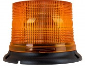 """4-3/4"""" Amber LED Multi Mode Strobe Light Beacon with 8 LEDs: Profile View."""