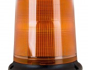 """6-1/4"""" Amber LED Multi Mode Strobe Light Beacon with 12 LEDs: Profile View."""