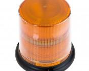 "6-1/4"" Amber LED Multi Mode Strobe Light Beacon with 8 LEDs"
