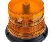 "4-3/4"" Amber LED Multi Mode Strobe Light Beacon with 8 LEDs"