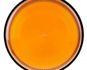 """6-1/4"""" Amber LED Multi Mode Strobe Light Beacon with 12 LEDs: Top View."""