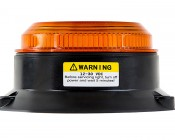 """2-1/2"""" Amber LED Strobe Light Beacon with 8 LEDs: Profile View"""