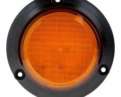 """2-1/2"""" Amber LED Strobe Light Beacon with 8 LEDs: Front View"""