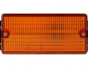 "4-1/2"" Amber LED Strobe Light Beacon with 8 LEDs: Top View"
