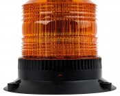 """4-3/4"""" Amber LED Strobe Light Beacon with 60 LEDs - Cosmetic Blemish: Profile View"""