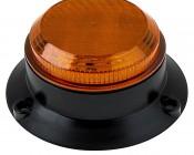 "4-3/4"" Amber LED Strobe Light Beacon with 8 LEDs"