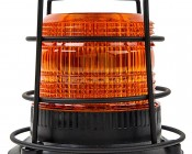 """4-3/4"""" Amber LED Strobe Light Caged Beacon with 60 LEDs: Profile View"""