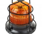 "4-3/4"" Amber LED Strobe Light Caged Beacon with 60 LEDs"