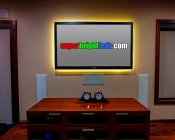 High Power LED Flexible Light Strip: Installed Behind TV