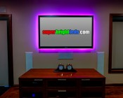 RGB Smart LED Strip Light Kit - 12V LED Tape Light w/ LC4 Connector - 244 Lumens/ft.: Installed Behind TV