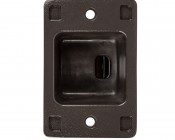 Large Square Pole Mount Kit for 400W LED Dimmable Parking Lot Light - Bottom View