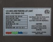 LED Parking Lot Light - 400W (1400W HID Equivalent) LED Shoebox Area Light - 5000K - 60,000 Lumens - Label