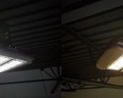LED Area Light - 160W (500W HID Equivalent) - 5000K/3000K - 20,000 Lumens: Natural White and Warm White Comparison