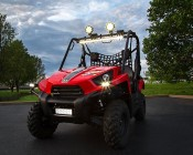 40 Inch 120 Watt Off Road Light Bar with Spot & Flood Combo Beam Showing Beam Pattern