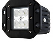 "3"" Square 18 Watt LED Mini Auxiliary Work Light - Flush Mount"