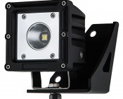 """Jeep Wrangler YJ (87-1995) Lower Windshield LED Light Mounts - 3"""" Square LED Auxiliary Lights: Attached to AUX-15W-S18B"""