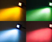 "LED Auxiliary Light - 3"" Square 18W Heavy Duty Off Road Driving Light: Shown With Colored Lens Filter (Sold Separately)"