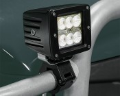 "LED Light Pod - 3"" Square LED Work Light - 18W - 1,440 Lumens: Installed on Golf Cart"