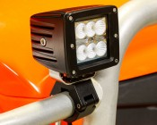 """Work Light/Light Bar Clamp for Work Light Tripod Stand and 1-1/4"""" Tubing: Attached to UTV Grill Cover"""