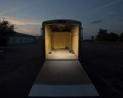 "16"" RV Awning Lights: Shown Lighting Inside Of Trailer In Natural White."