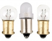 BA9s LED Bulb - 1 LED - BA9s Retrofit: Profile View
