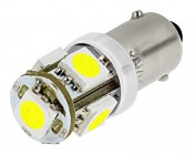 BA9S LED Bulb - 5 SMD LED Tower - BA9S Retrofit