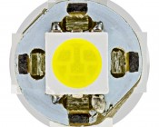 BA9S LED Bulb - 5 SMD LED Tower - BA9S Retrofit: Front View