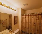 LED Decorative Filament A19 Bulb - 4 Watt, Warm White: Installed In Bathroom Vanity