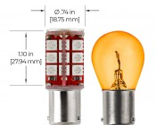7507 (PY21W) CAN Bus LED Bulb - 30 SMD LED Tower - BAU15S Retrofit: Profile View