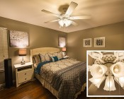 LED Filament Bulb - B10 LED Candelabra Bulb with 4 Watt Filament LED - Dimmable: Installed In Bedroom Ceiling Fan